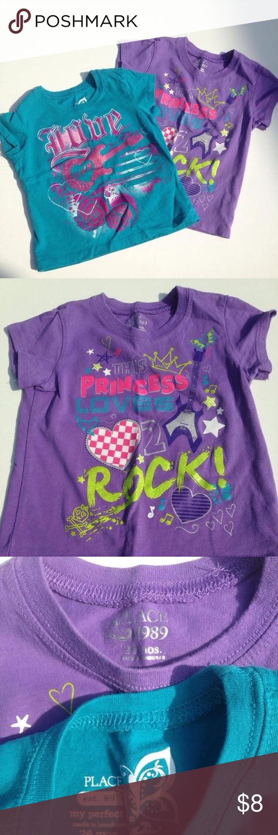 24m Children's Place loves to rock tees Love guitar and this princess loves to rock tops Children's Place Dresses
