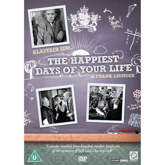 The Happiest Days of Your Life: Alastair Sim, Margaret Rutherford, Guy Middleton, Joyce Grenfell, Edward Rigby, Muriel Aked, John Bentley, Bernadette O'Farrell, Richard Wattis, Gladys Henson, John Turnbull, Percy Walsh, Frank Launder, E.M. Smedley-Aston, Mario Zampi, Sidney Gilliat, Stephen Harrison, John Dighton