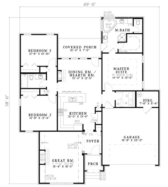 Entertaining Design - 5964ND | 1st Floor Master Suite, CAD Available, PDF, Split Bedrooms, Traditional | Architectural Designs