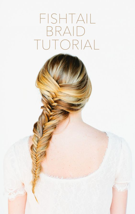 Fishtail Braid Hair Tutorial via once wed