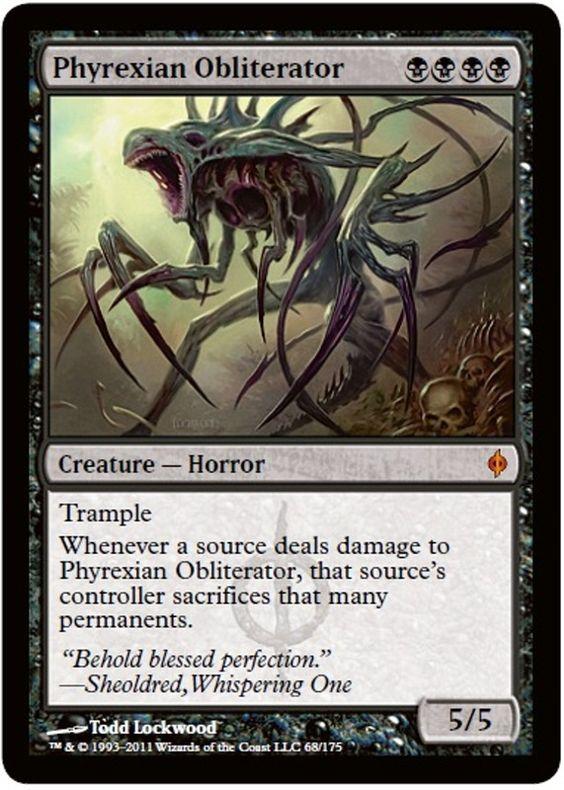 Phyrexian Obliterator Magic the Gathering card