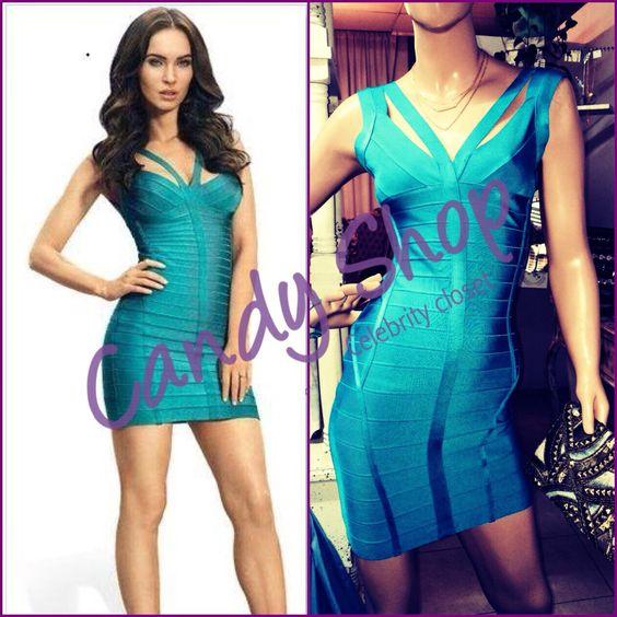 Al puro estilo Hl de Megan Fox. Celebrity bandage dress blue. No lo puedes dejar ir