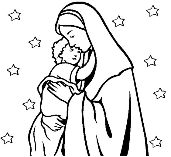 mother christmas coloring pages - photo#23