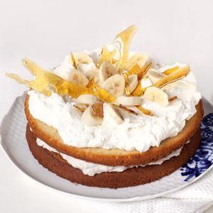 Recept - Banaan-slagroomtaart met karamel - Allerhande