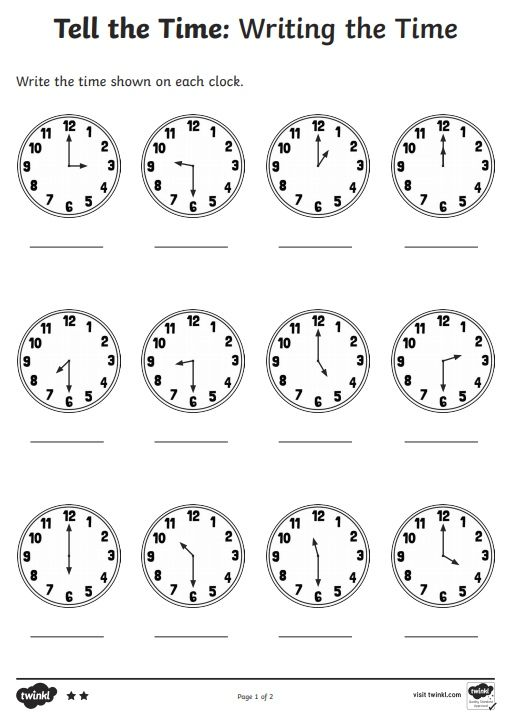Telling The Time Worksheet For Kids Preschool 2020 In 2020 Time