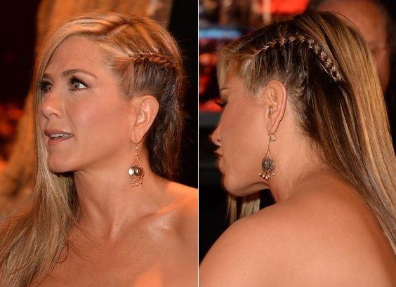 Até Jennifer Aniston, que nunca ousa, investiu na trancinha (Foto: Getty Images)