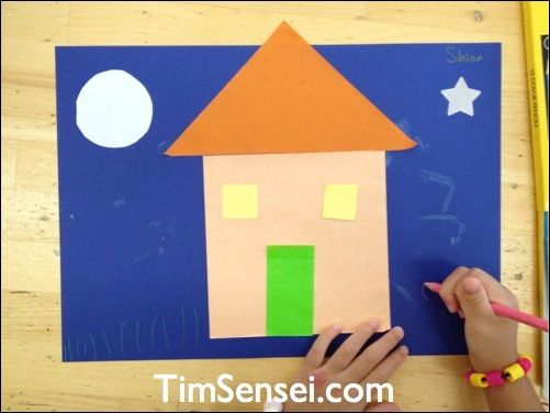 Simple Craft For 2-6 Year Olds To Learn Shapes. Just Needs