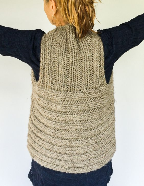 Knitting Pattern Vest Bulky Yarn : Moto Vest Pattern Vest pattern, Yarns and Patterns