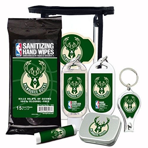 Milwaukee Bucks 6 Piece Fan Kit With Decorative Mint Tin Nail