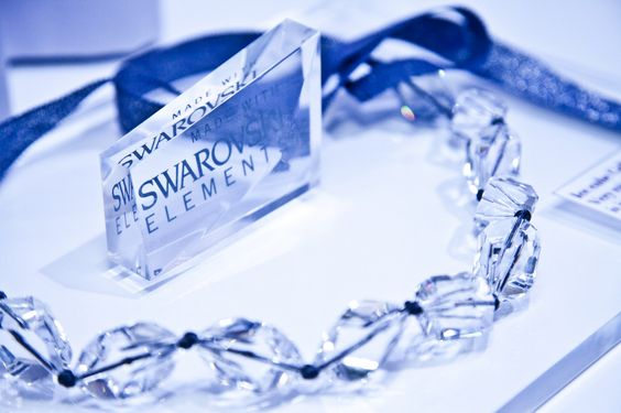 ICE CUBE. The collection was created for the event of Swarovski at JCNY. Chunky clear crystals neatly knotted with Japanese ribbon in a shade of deep blue, it's simple and it's elegant.  #ribbon jewel