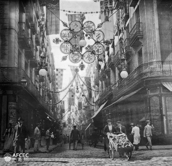 Carrer de Ferran+1902.+giacomo+alessandro.jpg (795×768)