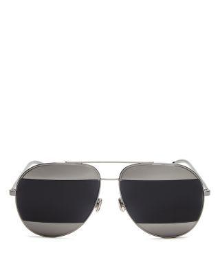 DIOR Mirrored Split Sunglasses, 59mm. #dior #59mm