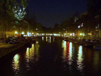 Nostalgic picture of Amsterdam by night by Karen Langridge