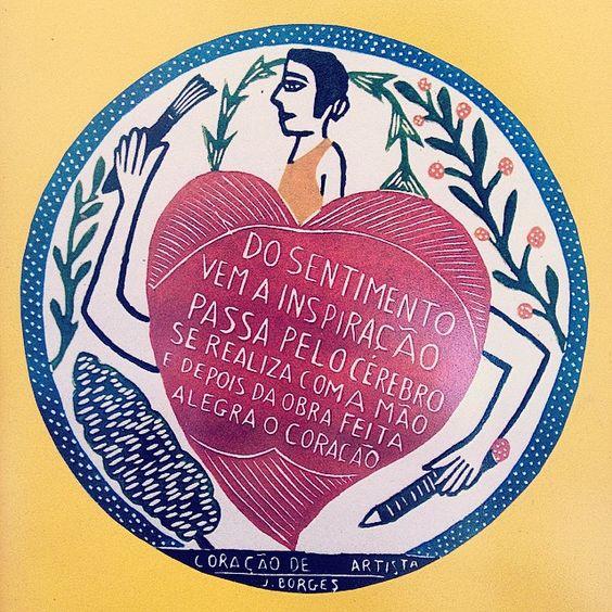 É nesse clima de simplicidade e poesia de J Borges q a gente começa 2015 ❤️ #jborges #2015 #artebrasileira #brasilidade #xilogravura