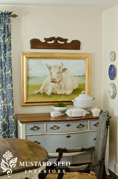 I would LOVE to have a cow painting exactly like this!!!!