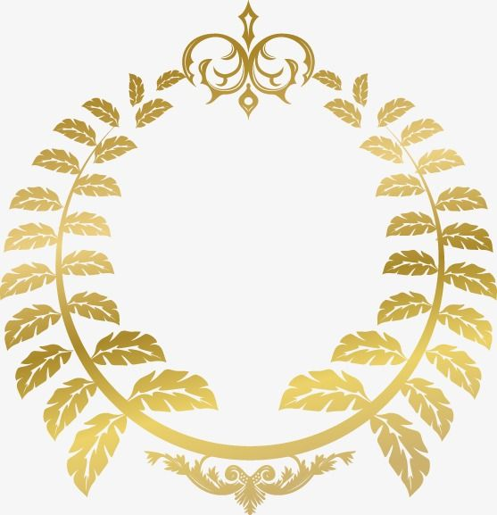 Hand Painted Gold Leaf Circle Pattern Hand Painted Golden Leaves Png And Vector 원형 패턴 나뭇잎 패턴