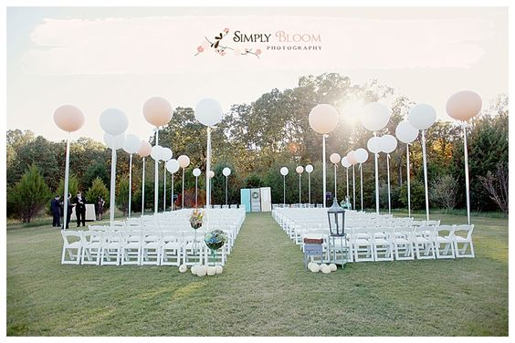 Gorgeous Event Decoration: Decorating weddings with balloons
