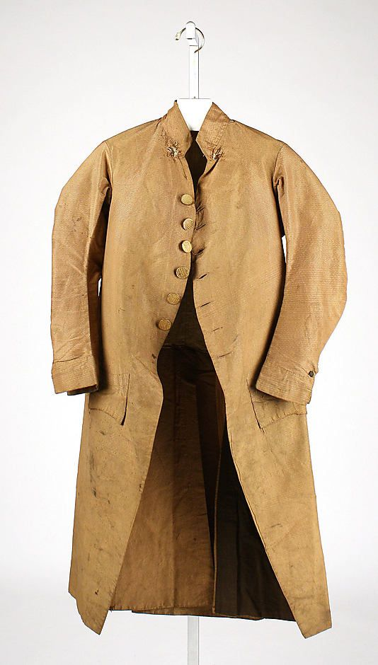 1775-1790, France - Coat - Silk, linen