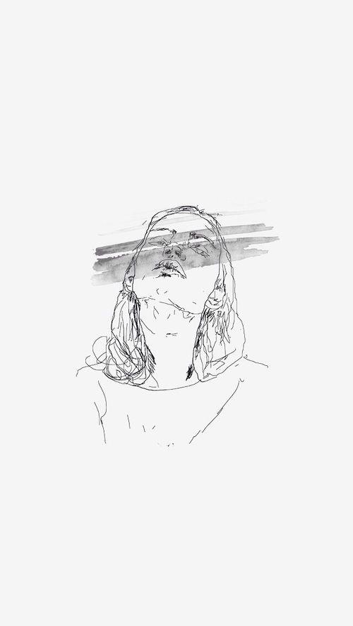 Minimalist Aesthetic Black And White Tumblr Drawings