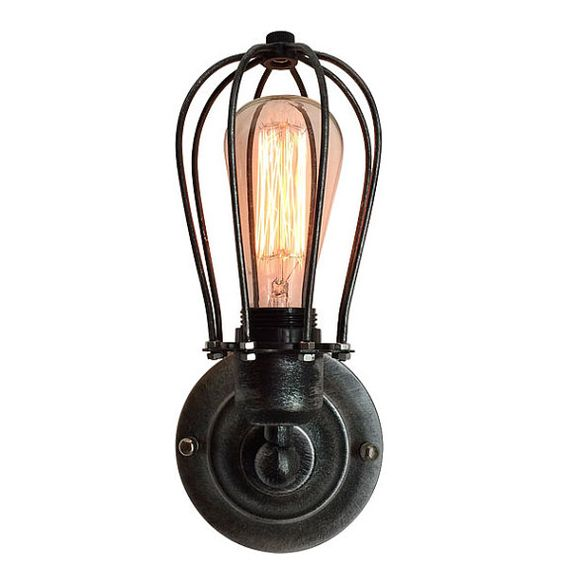 New Retro Wall Lamp Vintage Industrial Cage Light by GoPioneers
