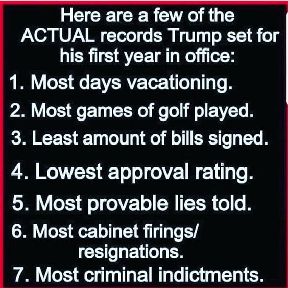 For all of you supporters who claim he's done soooo much! Here is what he's actually accomplished.