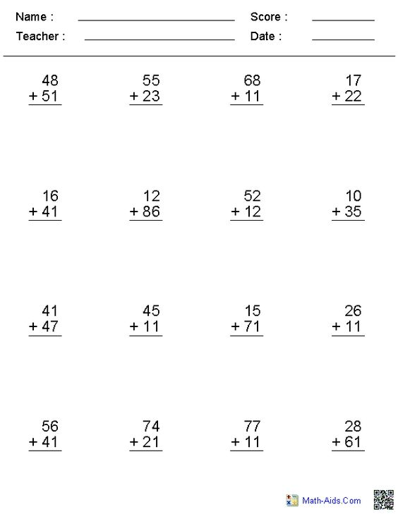 Free math addition worksheets generator