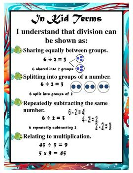 Students model a division fact showing equal groups, repeated ...