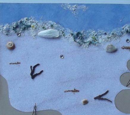 Beachcombing - close up of waterline. - Scrapbook.com