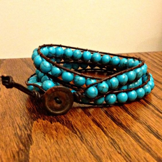 DIY Wrap Bracelet {tutorial}   Sometimes Homemade