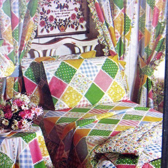 Sears Calico Garden Twin Flat Sheet 70s Nos Gardens