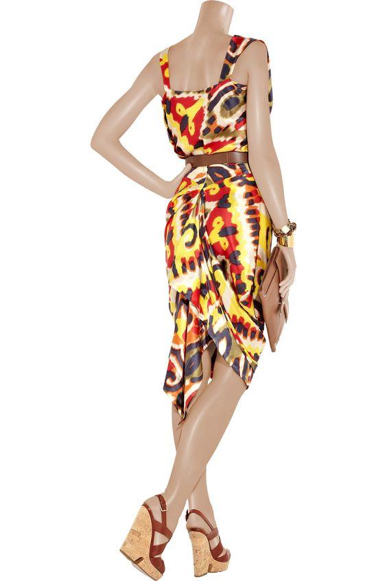 VIVIENNE WESTWOOD RED LABEL  Printed silk skirt