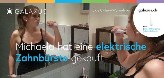 Michaela hat eine elektrische Zahnbürste gekauft. #GalaxusLive