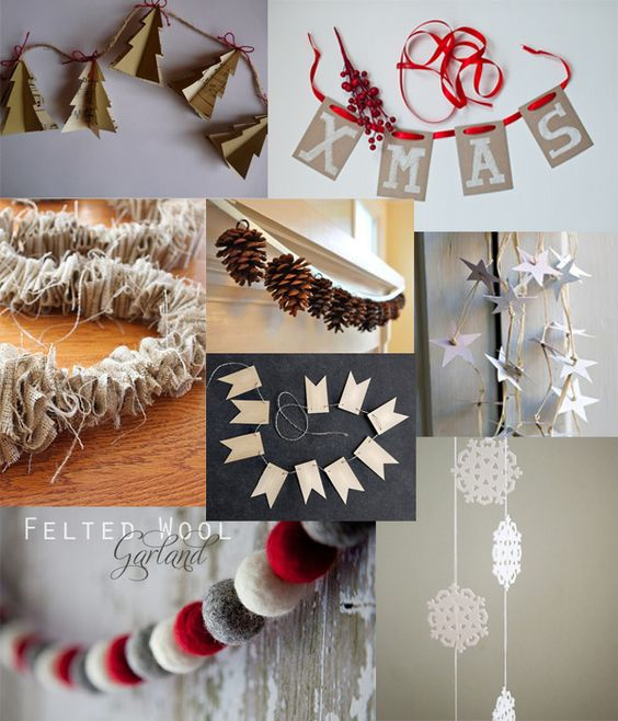 Diy Christmas Decor Felt Leaf Garland Christmas