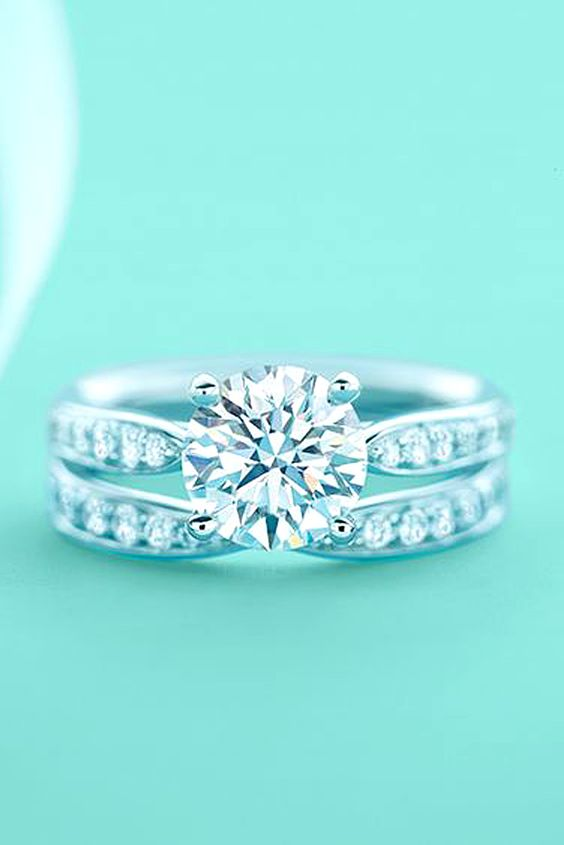 Most Loved Tiffany Engagement Rings ❤ See more: http://www.weddingforward.com/tiffany-engagement-rings/ #weddings