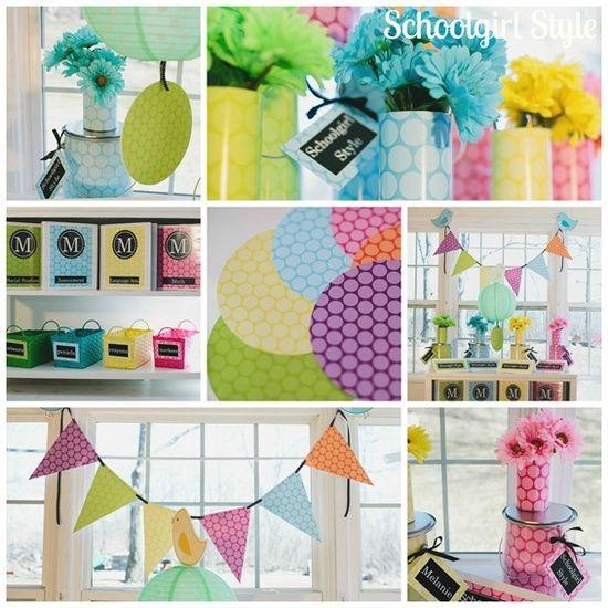 Bright Color Polka Dot Party Classroom Theme