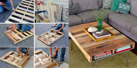 Fabriquer une table basse avec une palette caf tables basses et tables - Fabriquer table basse avec palette ...