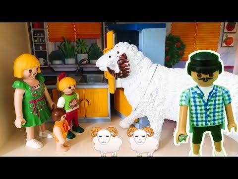 الخروف العملاق هرب وكسر بيت عائلة عمر جنه ورؤى قصص اطفال افلام بلاي Playmobil Youtube Dinosaur Stuffed Animal Dinosaur Animals