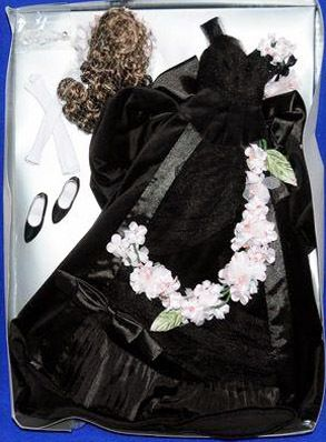 This is Tonner's Hollywood Glamour 16 In. Fashion doll Anna Karenina doll outfit that fits the Tyler Wentworth, Anne Harper, and Hollywood Legend actress dolls. It is $152.00 and is best for a doll designed to have removable wigs.