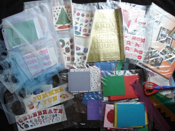 Creative Memories Scrapbooking Items Many Papers Templates Scissors Etc..