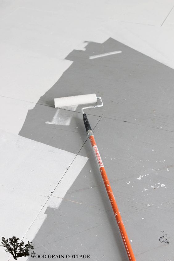 How To Paint Plywood Floors by The Wood Grain Cottage