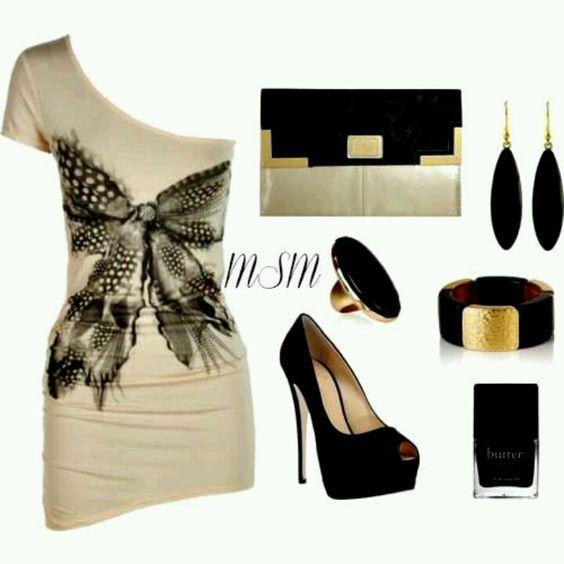 Negro y beige
