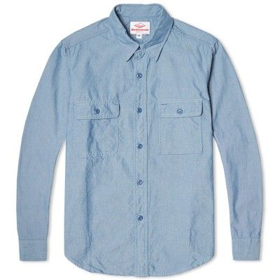 Battenwear Chambray Work Shirt (Classic Blue)