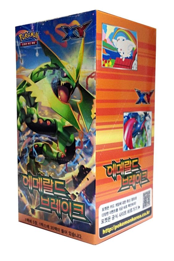 "POKEMON CARD XY ""Emerald break"" Booster Box / Korean Ver / 30 Booster Pack: Amazon.co.uk: Toys & Games"