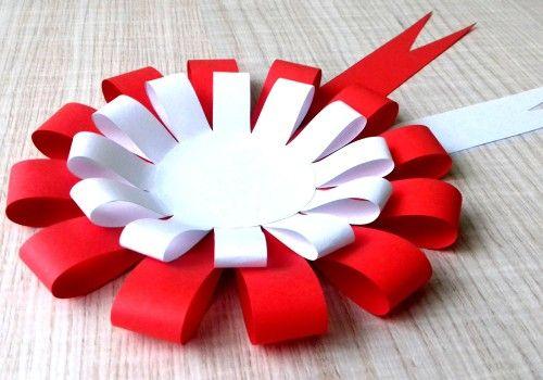 Kokarda Narodowa Do Samodzielnego Wykonania Flower Diy Crafts Paper Crafts Diy Kids Arts And Crafts For Kids
