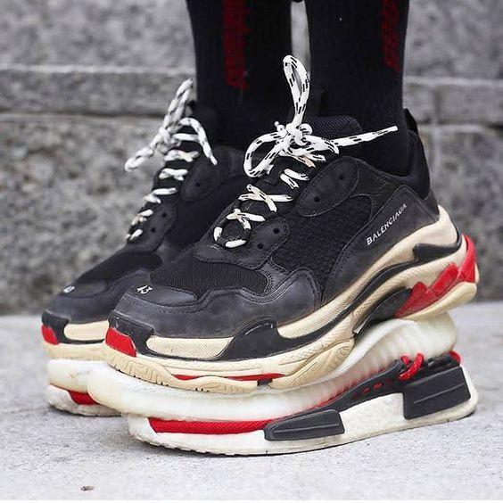 BALENCiAGA TRiPLE S Sneakers Size 45 US size 12 Neon