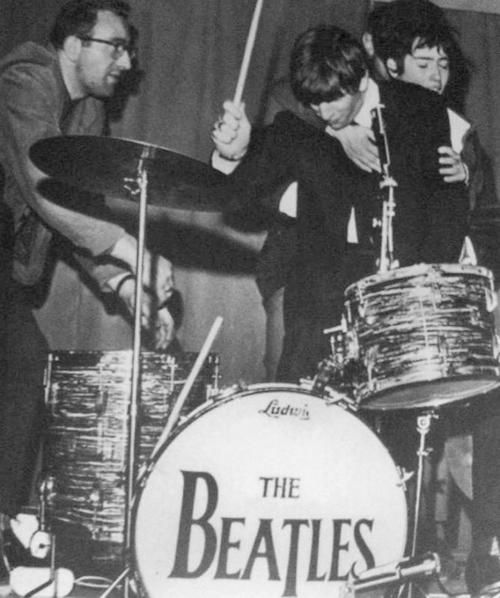 "beatlefour: ""1963 Ringo at the Sporthallen in Eskilstuna during the Beatles' Swedish tour """