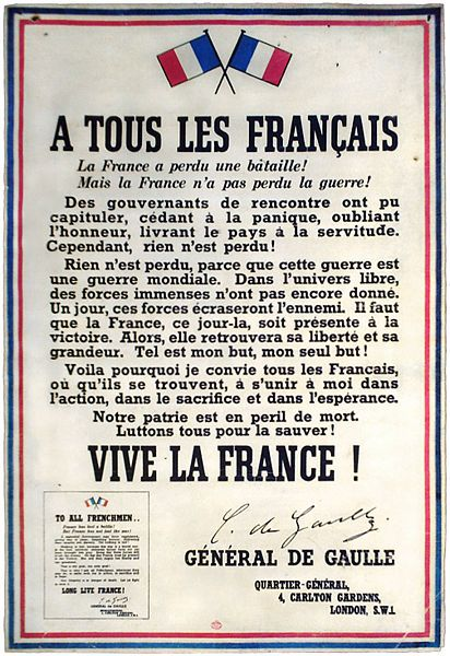 Appel du Général De Gaulle, çà n'a pas fonctionné comme tu le pensais, l'avenir de la France a été confié à des banquiers, depuis 1973 !...