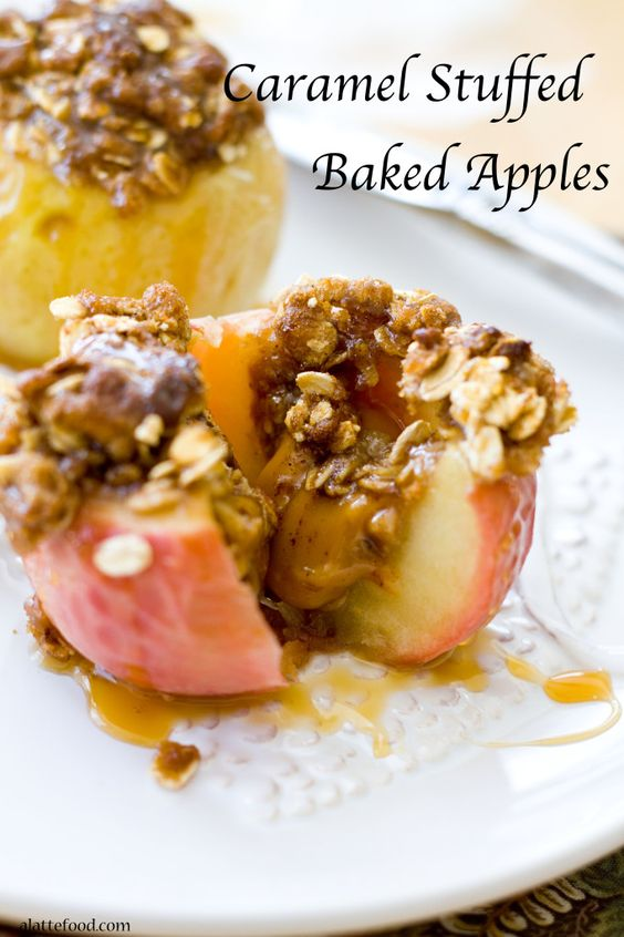 Caramel Stuffed Baked Apples