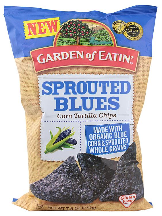 Garden of Eatin Sprouted Blues Corn Tortilla Chips Gluten Free