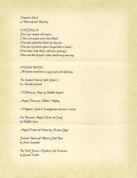 Carta de admisión a Hogwarts personalizada ~ clic para ver más - hogwarts acceptance letter